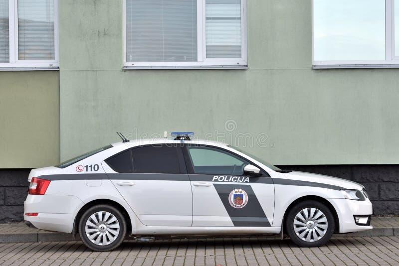 拉脱维亚警车 库存照片