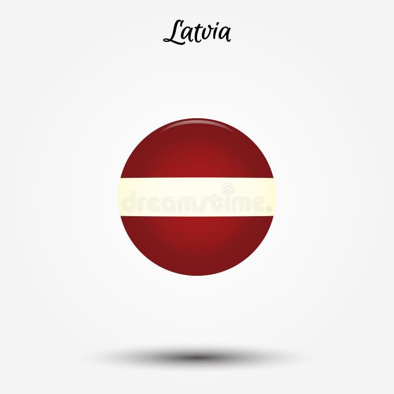 拉脱维亚象旗子  皇族释放例证