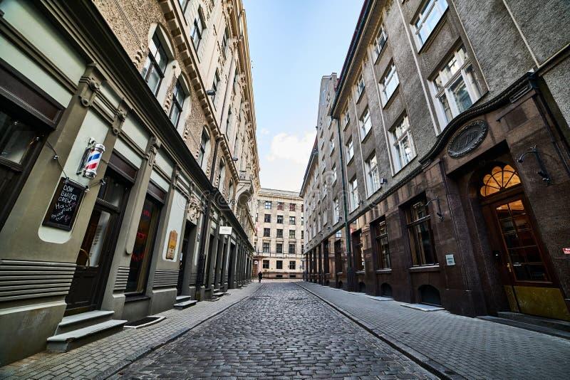 拉脱维亚里加 废弃的城市街道 欧洲 图库摄影