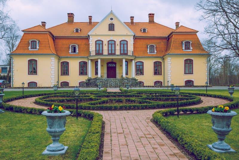 拉脱维亚的庄园 免版税库存照片