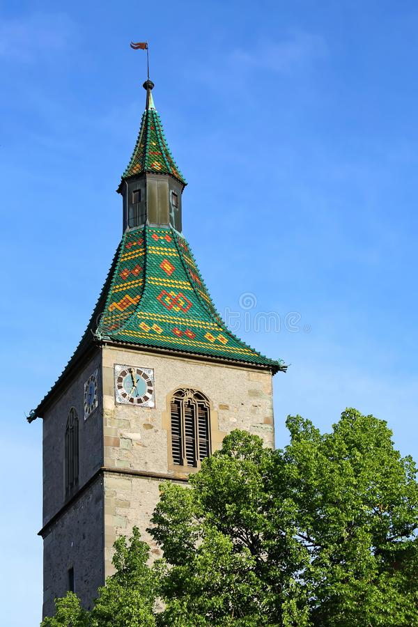 拉芬斯堡是一个城市在德国 库存照片
