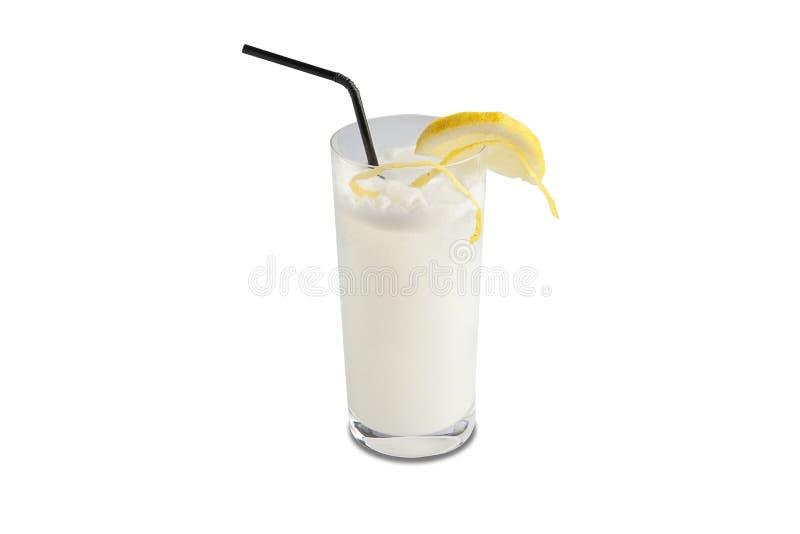 拉莫斯杜松子酒在白色背景隔绝的嘶嘶响鸡尾酒 向量例证