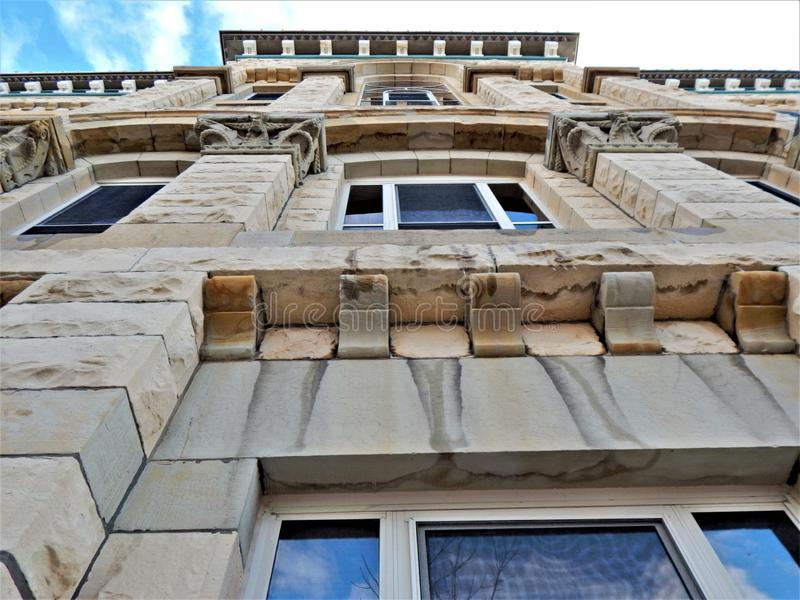 拉萨尔县法院大楼渥太华伊利诺伊词条细节 库存图片