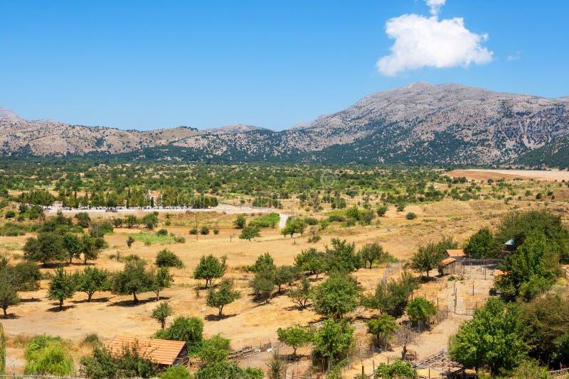 拉西锡州高原。克利特,希腊 库存图片
