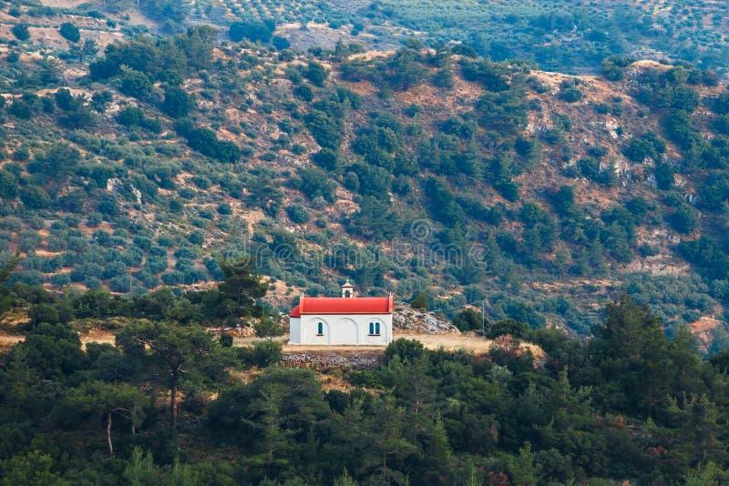 拉西锡州高原的小教堂,克利特 免版税库存图片