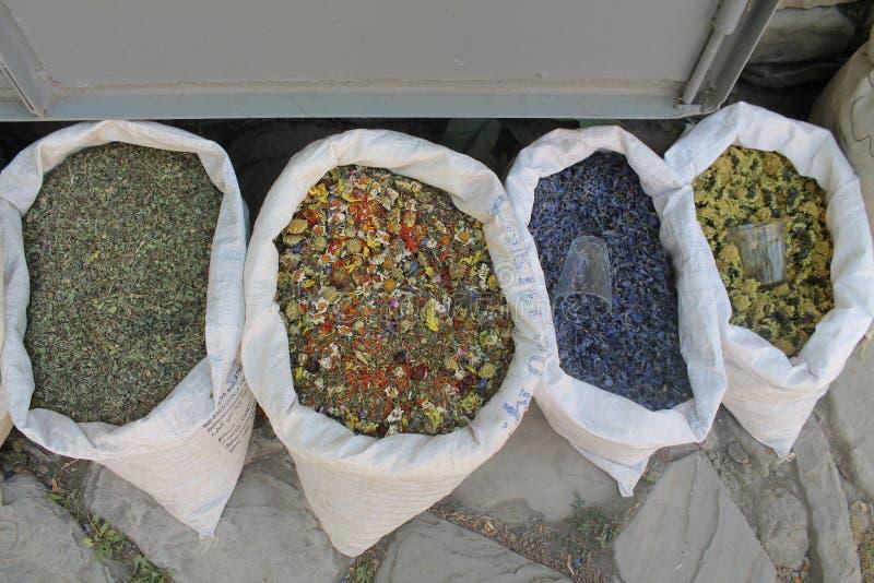 拉赫季 种类花 市场 Ismayilly阿塞拜疆自然 免版税库存照片