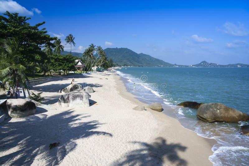 拉迈海滩ko samui海岛泰国 免版税库存照片
