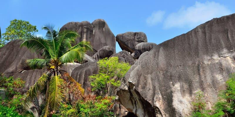 拉迪格岛,塞舌尔群岛海岛 免版税图库摄影