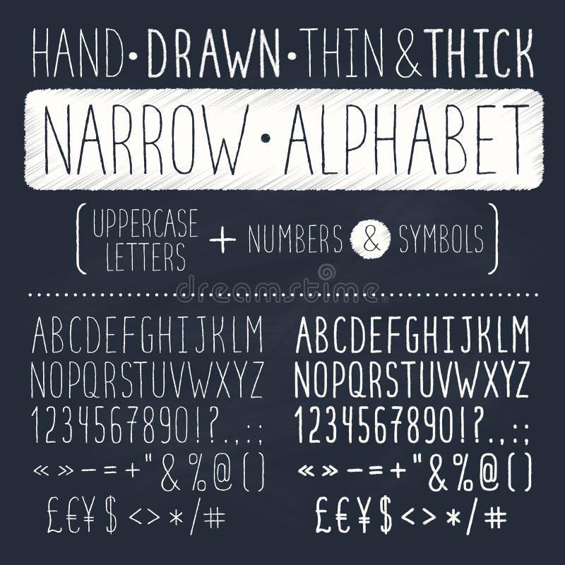 拉长的字体现有量 库存例证