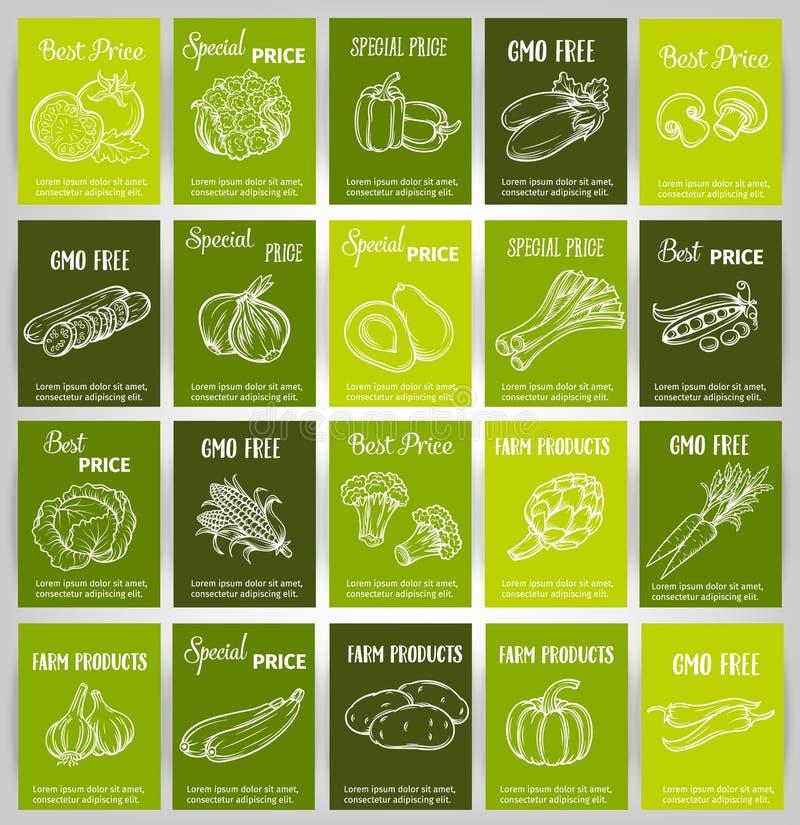拉长的现有量蔬菜 库存例证