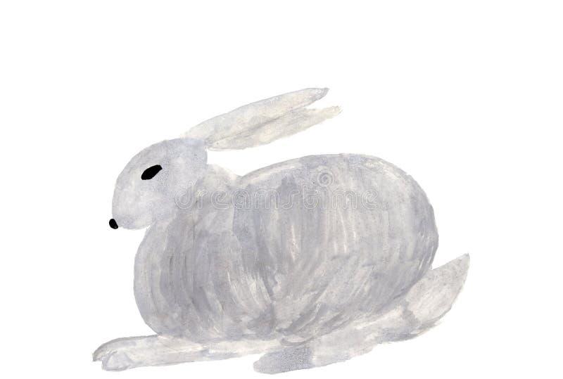 拉长的野兔 免版税库存照片