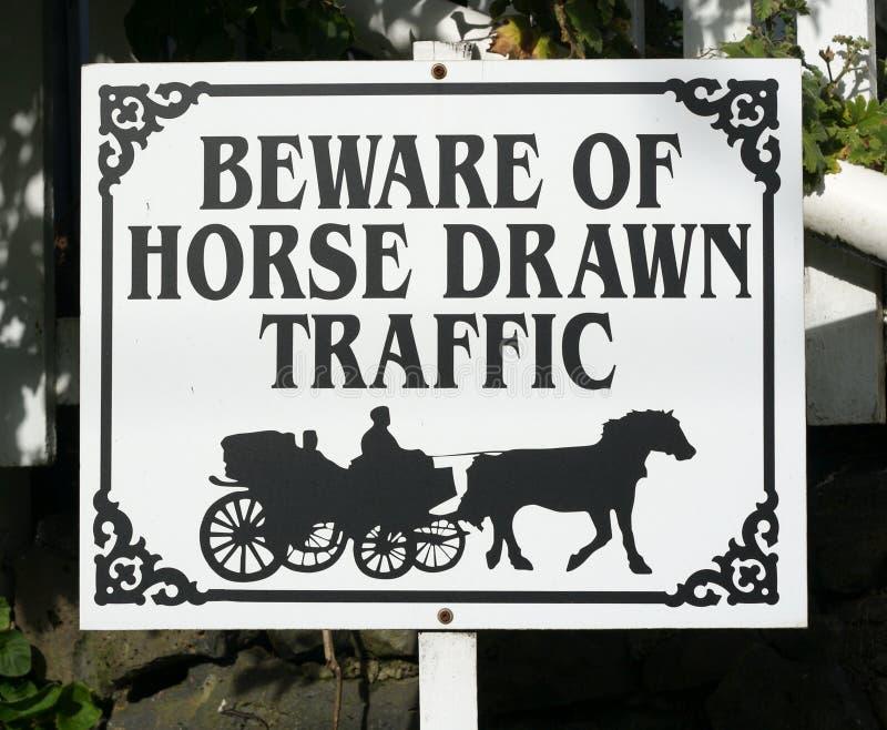 拉长的马符号业务量 免版税图库摄影
