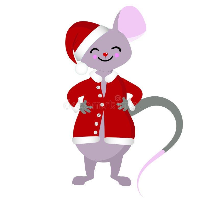 拉长的鼠和老鼠 2020个新年的标志 皇族释放例证