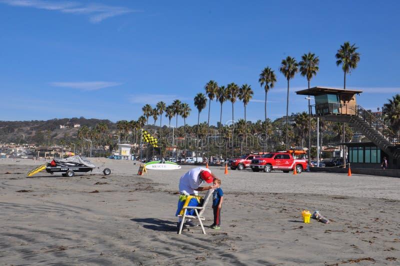 拉霍亚岸在圣地亚哥,加利福尼亚 图库摄影
