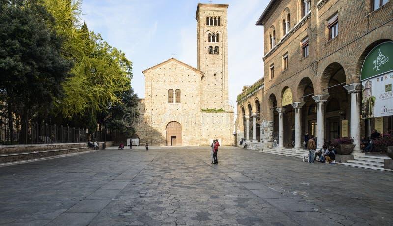 拉韦纳伊米莉亚罗马甘意大利欧洲广场圣弗朗西斯 库存图片