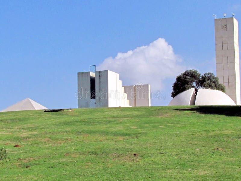 拉马干Wolfson公园几何形状2012年 库存图片