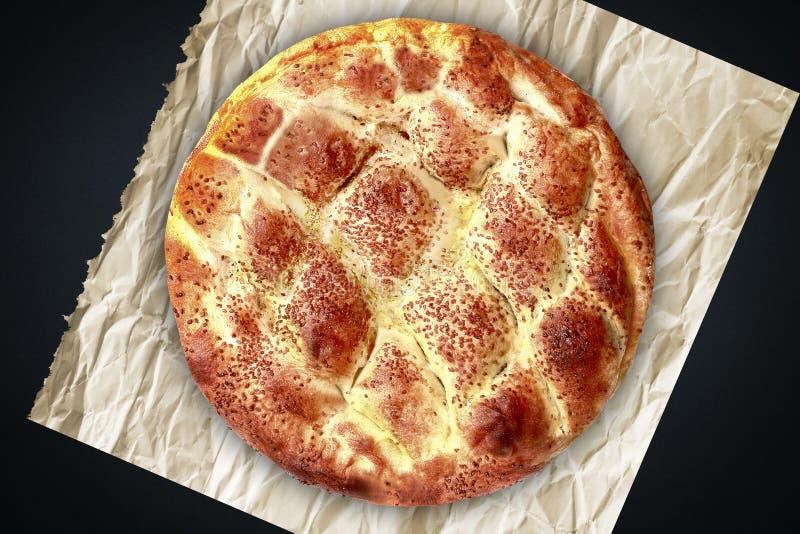 拉马赞斋月皮塔饼的pidesi土耳其语 库存图片