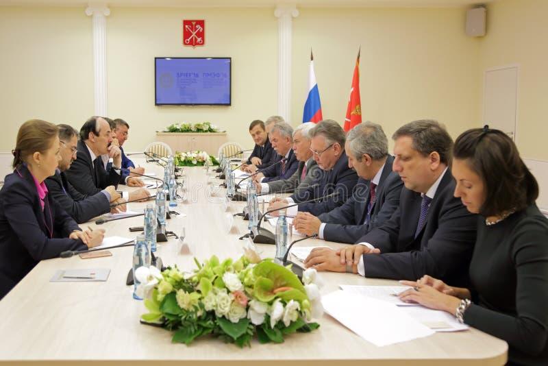 拉马赞阿卜杜拉季波夫和Georgy波尔塔夫琴科 图库摄影