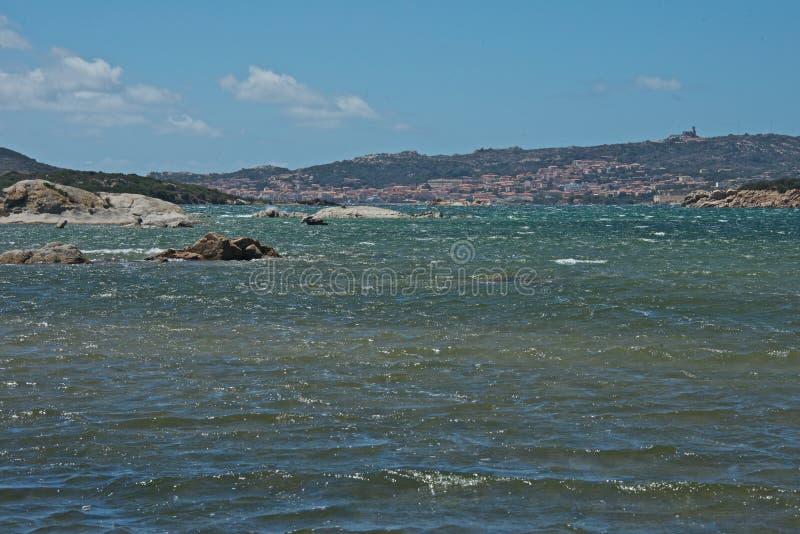 拉马达莱纳` s海岛海景  免版税库存图片