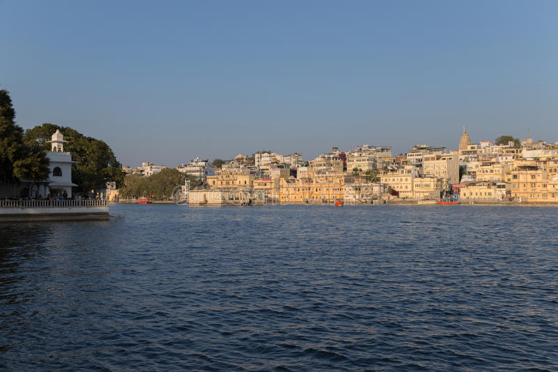 拉贾斯坦国家的乌代浦市的印度 免版税库存图片