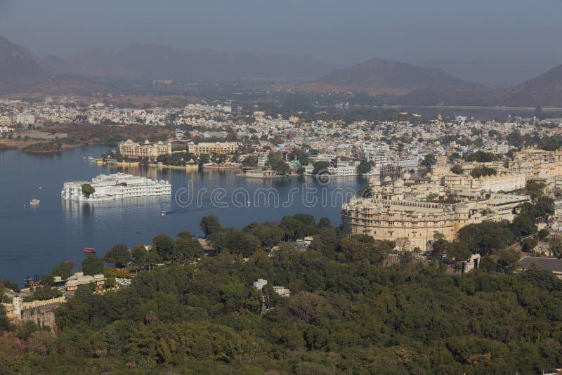 拉贾斯坦国家的乌代浦市的印度 库存图片