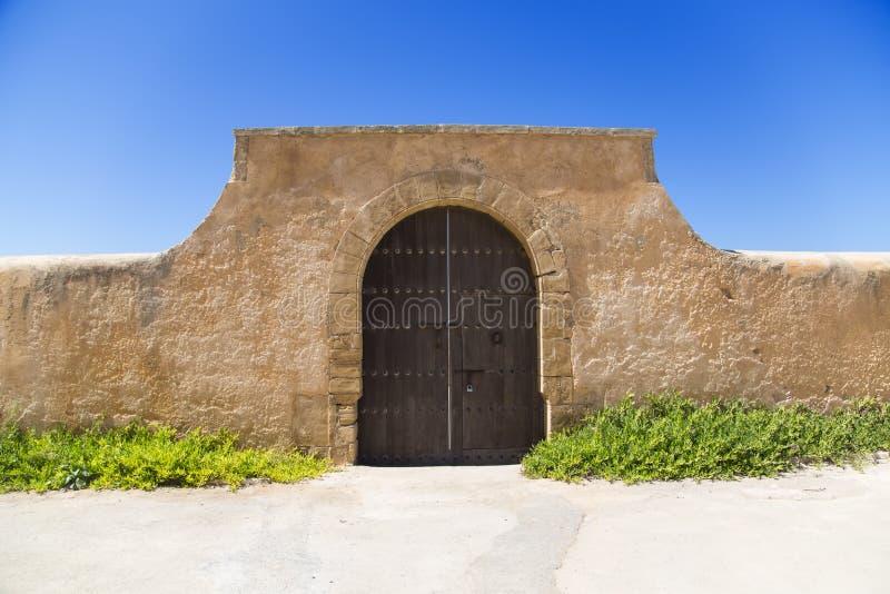 拉巴特市墙壁 免版税库存照片
