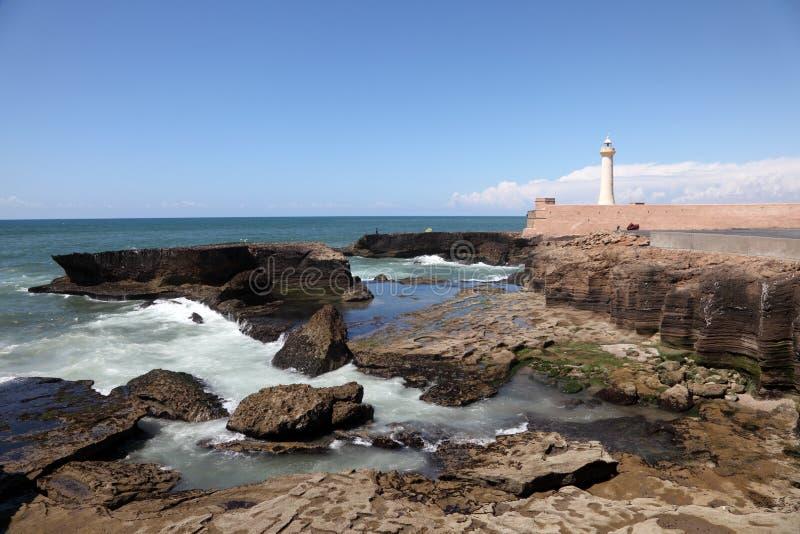 拉巴特,摩洛哥大西洋海岸  库存照片