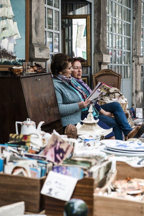费拉da ladra,跳蚤市场举行了每星期两次吸引本机 免版税图库摄影