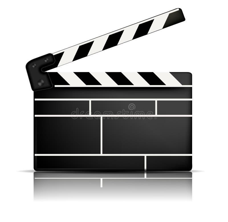 拍板电影 向量例证