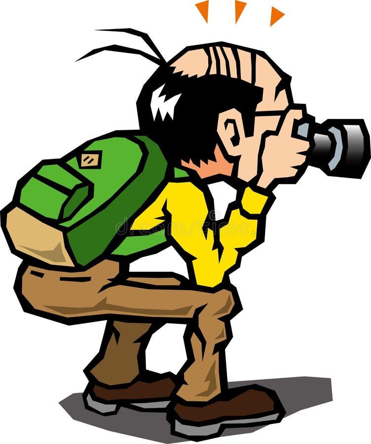 拍照片的人们 向量例证
