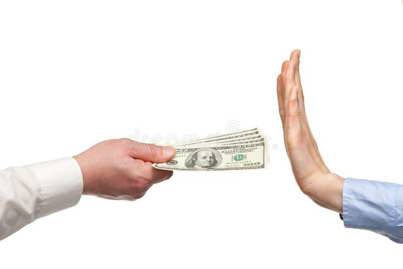 拒绝货币的聘用人力现有量 库存图片