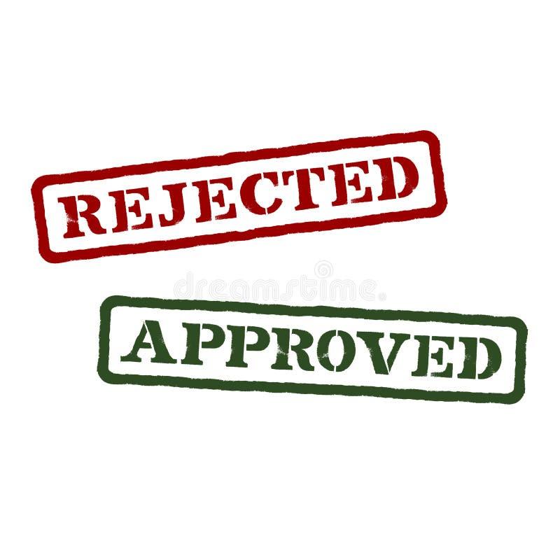 拒绝和批准。传染媒介格式 皇族释放例证
