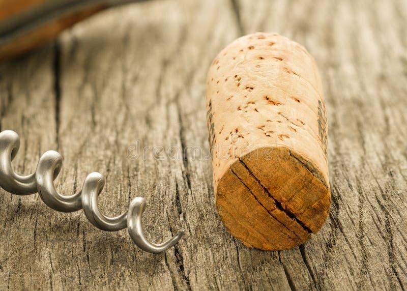 拔塞螺旋的黄柏和纺锤 免版税库存图片