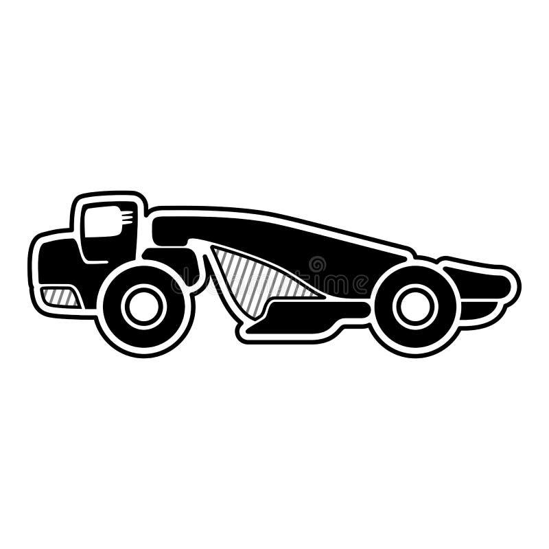 拖拉机式铲运机的轮子 库存例证