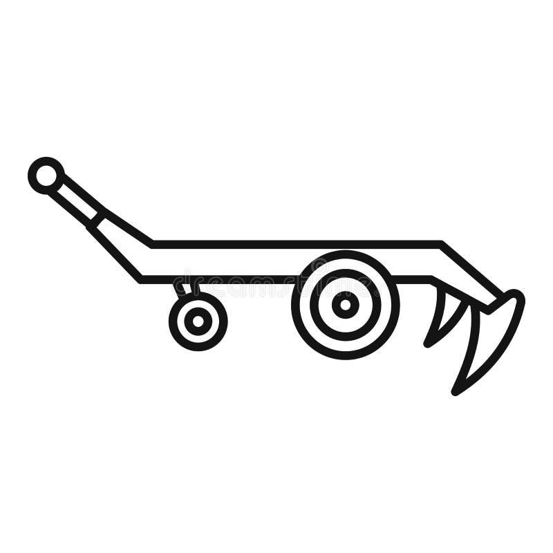 拖拉机犁象,概述样式 皇族释放例证