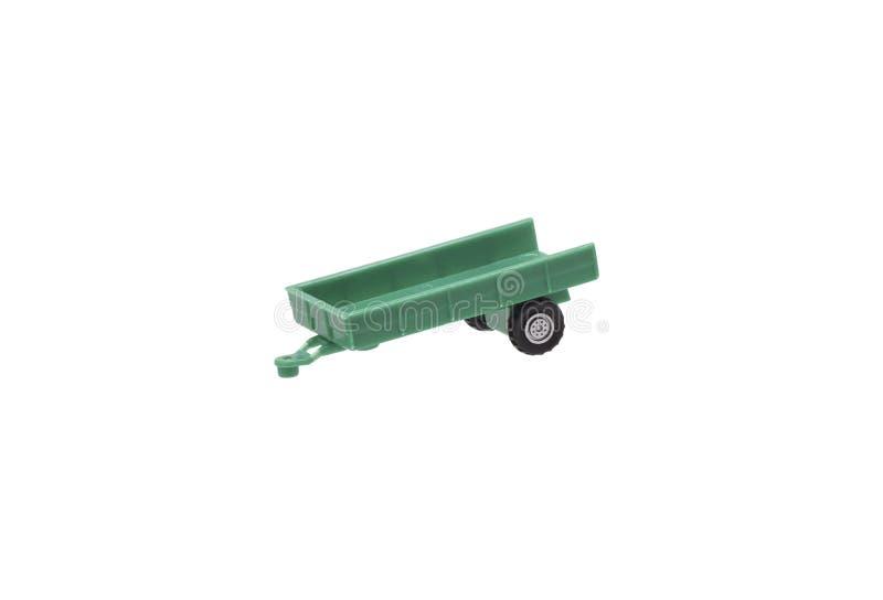 拖拉机的一辆玩具拖车 免版税库存图片