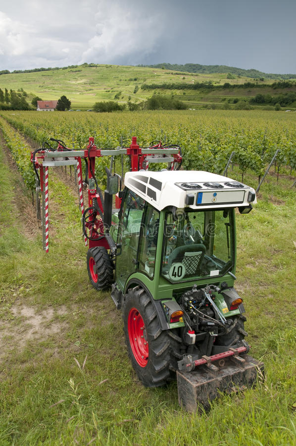 拖拉机葡萄园 图库摄影