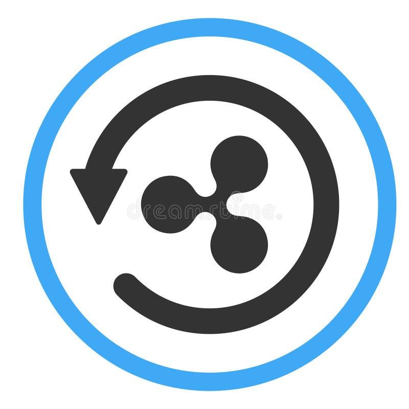 拖欠款项象标志,在白色背景隔绝的回归金钱 皇族释放例证