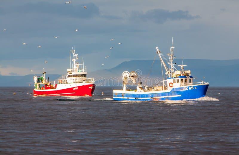 拖网渔船 库存图片