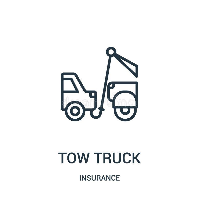 拖车从保险汇集的象传染媒介 稀薄的线拖车概述象传染媒介例证 r 皇族释放例证