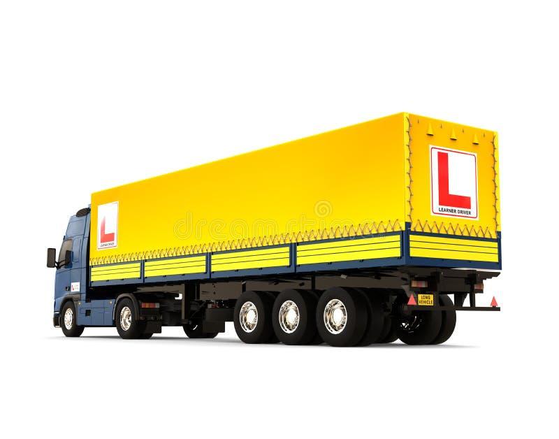 拖车驾驶学校概念 库存例证