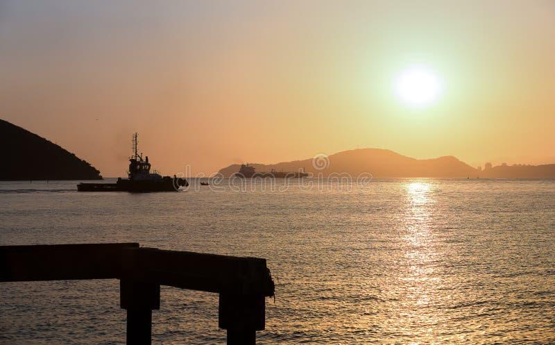拖轮,桑托斯,巴西 免版税库存图片