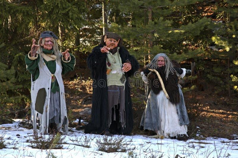 拖钓在Tomteland 达拉纳 瑞典 免版税库存图片