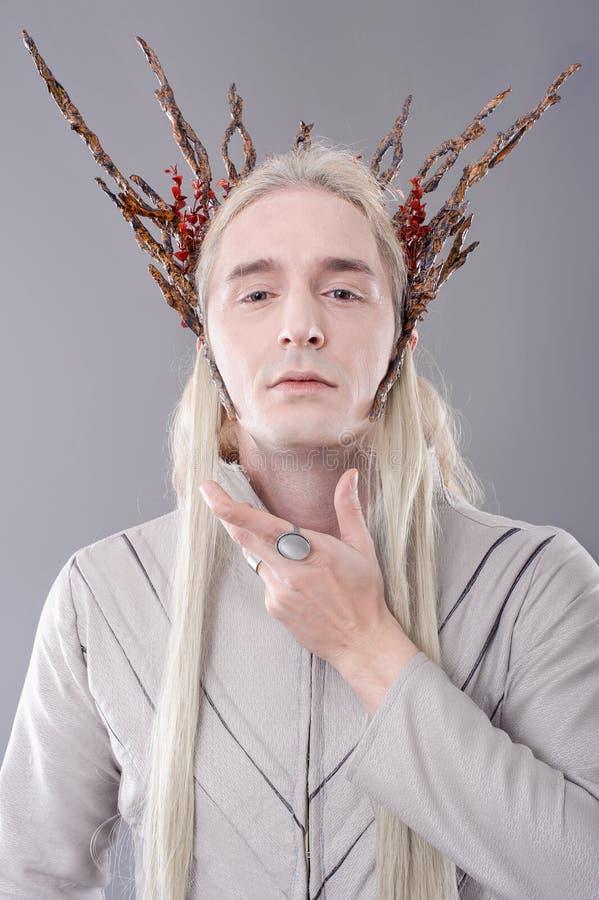 拖钓 Thranduil, Hobbit 库存照片