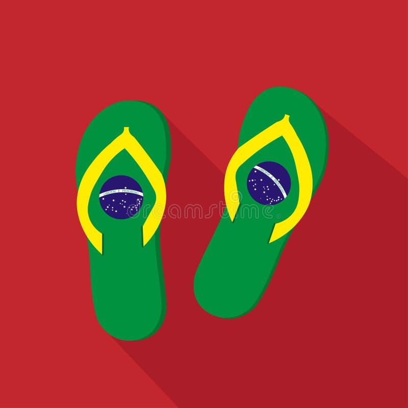 拖鞋平的动画片象 面包渣 也corel凹道例证向量 向量例证