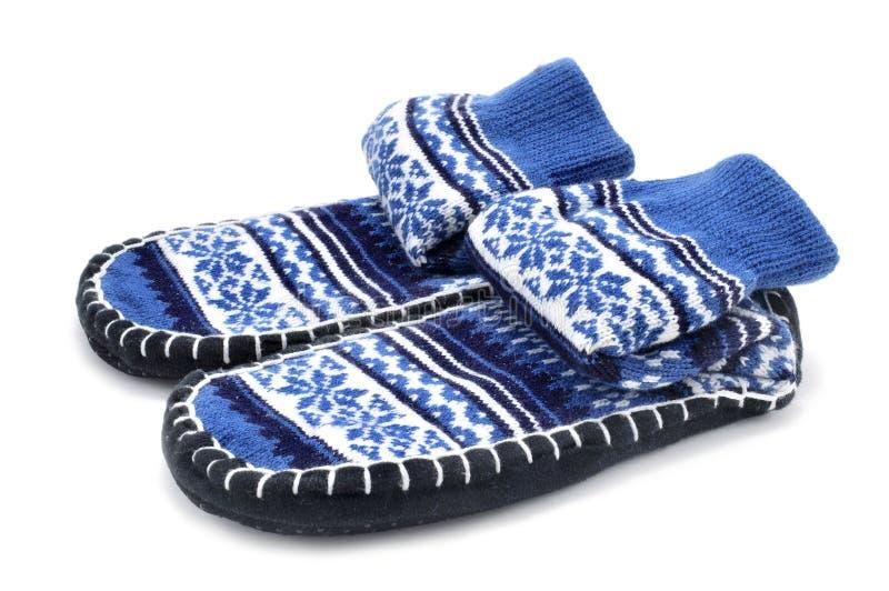 拖鞋袜子 免版税库存照片