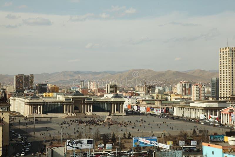 拘捕前跟随蒙古总统不安 库存照片