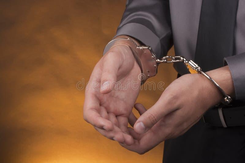 拘捕手铐 库存图片