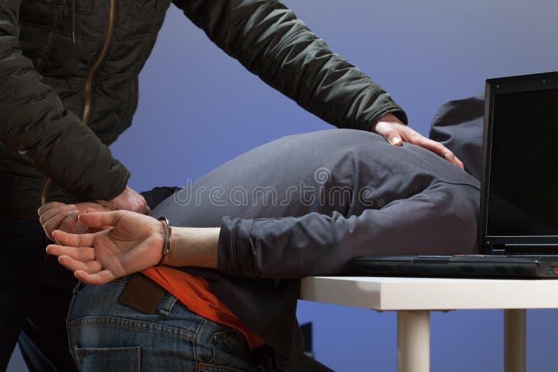 拘捕黑客 免版税库存图片
