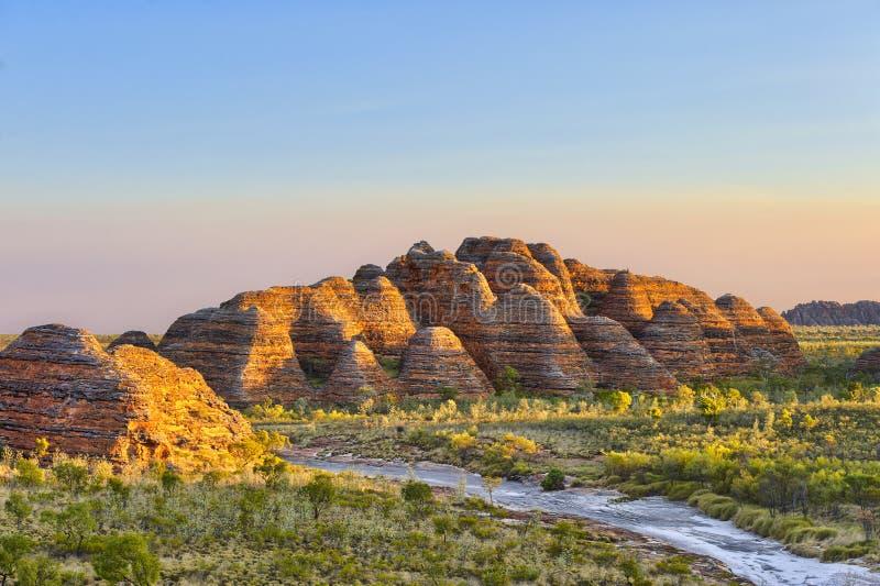 拙劣的工作搞糟在日落之前的国家公园 库存照片